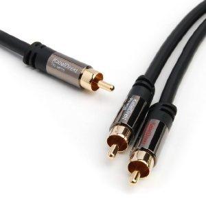 KNALLER - KabelDirekt Pro Series Y - Kabel 5m ( 1x Cinch Stecker > 2x Cinch Stecker )  + 49,97€ Artikel Geschenkt