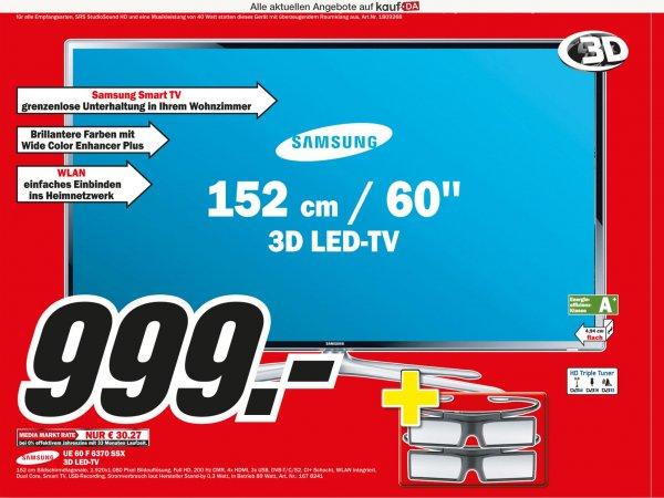 MM Pforzheim 20Jahre: Samsung UE60F6370 SSX 3D LED TV 152cm