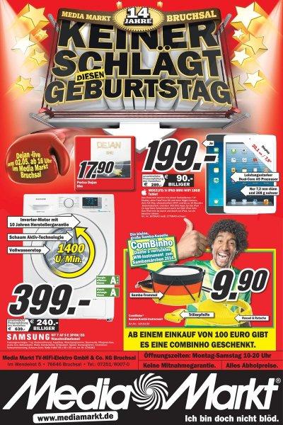 IPAD Mini 16GB Wifi weiß/schwarz lokal Bruchsal  Mediamarkt