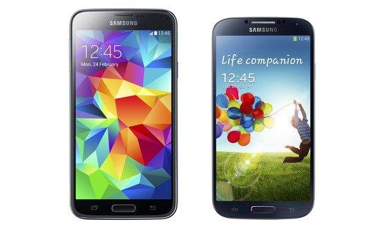 Samsung Galaxy S5 weiß für 518,49 Euro Neuware (Bestpreis) und Samsung Galaxy S4 B-Ware schwarz/weiß  für 231,57 Euro @MeinPaket.de