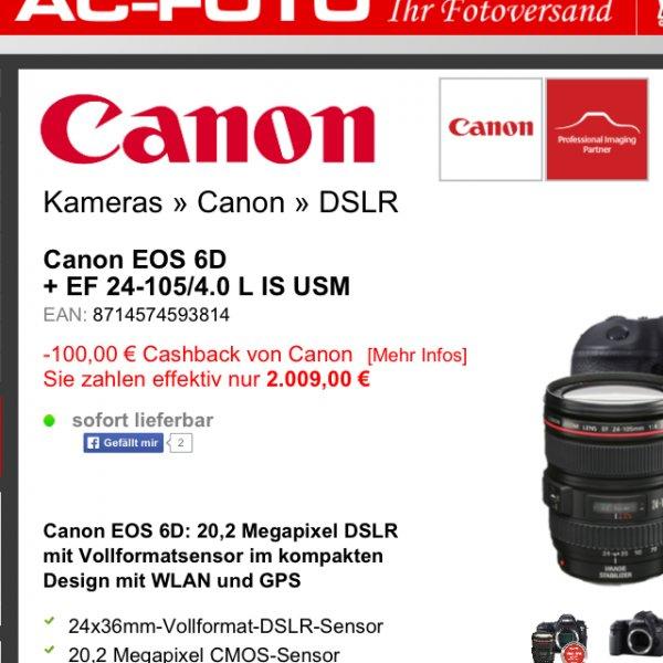 Canon EOS 6D + EF 24-105mm L USM