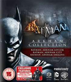 Batman Arkham Collection (Asylum, City, Origins) [PS3/360] für 30,33 € inkl. Vsk.