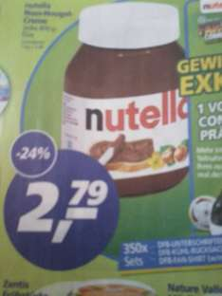 Nutella 2,79 Euro