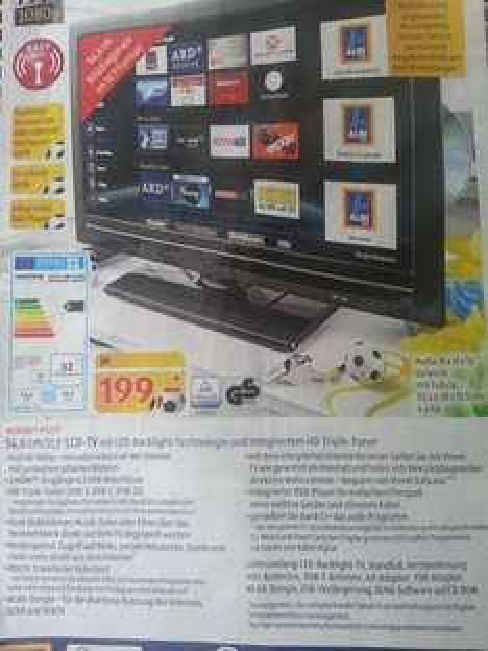 """Medion P12177 21,5"""" TV mit HbbTV, DLNA, Triple-Tuner, integriertem DVD-Player,... ab 15.05. bei Aldi Süd"""