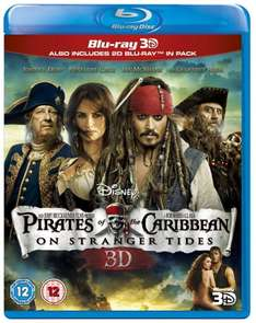 Pirates of the Caribbean – On Stranger Tides (Fremde Gezeiten) [Blu-ray 3D + 2D Blu-ray] (OT) für 8,63 € inkl. Vsk.