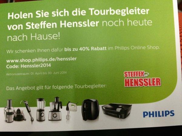 Philips Küchengeräte durch Gutschein 40% reduziert