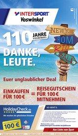 Intersport Vosswinkel Jubiläumsaktion ab 100€ Einkauf(gute Angebote dabei) = 100€ Holidaycheck Gutschein dazu bekommen(offline)