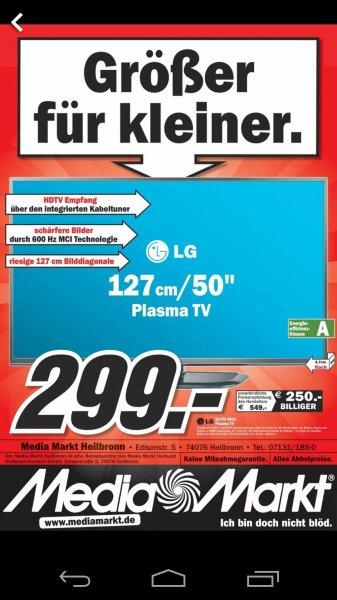 [Lokal] LG 50PN4503 127 cm (50 Zoll) Plasma-Fernseher @MediaMarkt Heilbronn
