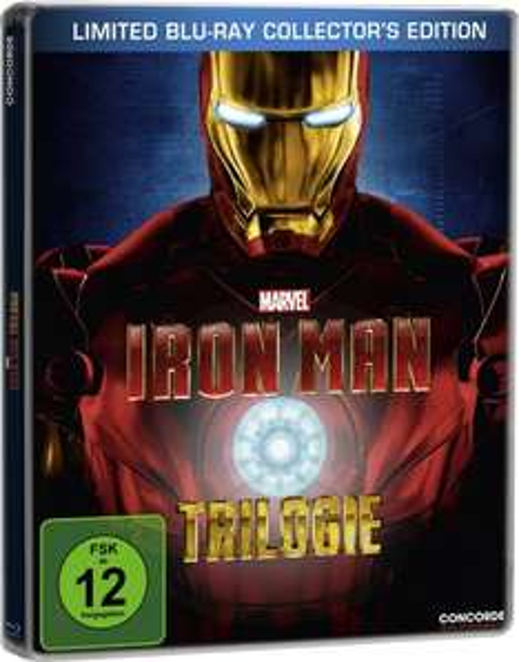 [amazon.de] Iron Man - Trilogie - Steelbook inkl. exklusivem Iron Man Comic [Blu-ray] für 18,97 €  (Prime u. Hermes) Bestpreis o. bei MediaMarkt für 19,99 € bei Abholung!