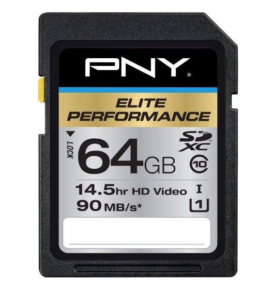 PNY 64GB SDXC Elite Performance UHS-1 (90MB/sec) für 31,75€ @Amazon.com