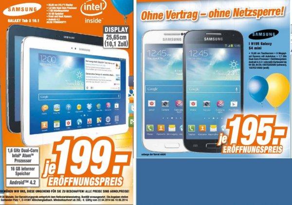 [lokal] Samsung Galaxy S4 Mini für 195€ + Tab 3 10.1 für 199€ bei Expert Herfag (u. a. Göttingen)