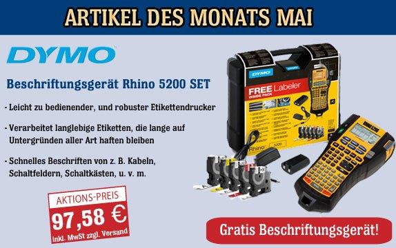 DYMO Industrie-Beschriftungsgerät Rhino 5200 Set; 97,58€ (+4,99€ Versand)