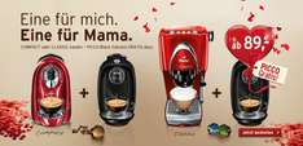 GRATIS Kaffeemaschine Picco Black Volcano beim Kauf einer Cafissimo Compact oder Classic