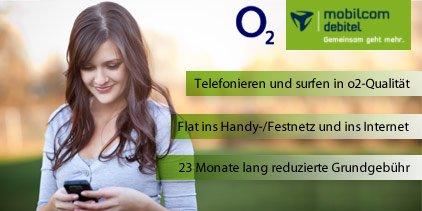[DailyDeal] mobilcom-debitel Allnet-Flat mit 500MB im O2 Netz für 11,89€ / Monat
