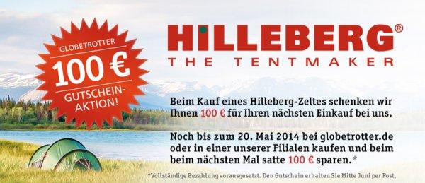 100€ Globetrotter Gutschein bei Kauf eines Hilleberg Zeltes