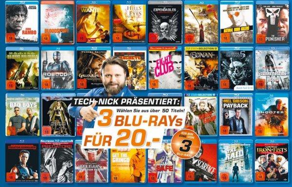 [Saturn bundesweit und online] Über 60 FSK18 Blu-rays: 3 für 20 €, u.a. Fight Club, Scarface, Machete, Robocop, Natural Born Killers - 6,67 € pro Film (versandkostenfrei bei Filialabholung)