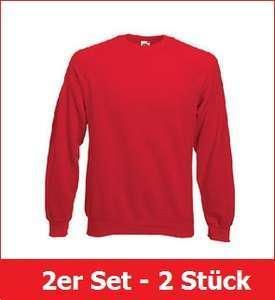 Fruit of the Loom Sweatshirt 2er Set rot Gr S - XXL