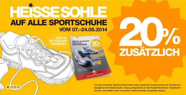 www.sportarena-shop.de gibt 20% auf alle Sportschuhe & reduzierte Outdoorschuhe