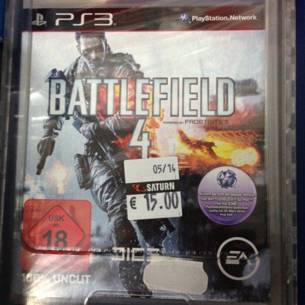 Battlefield 4 Ps3 Saturn Hannover 15,00 Euro lokal?