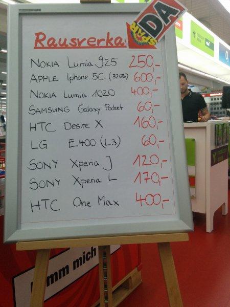 Lumia 925 für 250€ umd One Max für 400€ im MM Offenburg