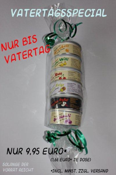 Geschenkset Dosenschnaps passend zum Vatertag für 14,45 €