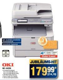 [offline@Metro] OKI MC342dn Multifunktions-Farblaser mit Fax, Duplex-Druck und RADF für 214,19€