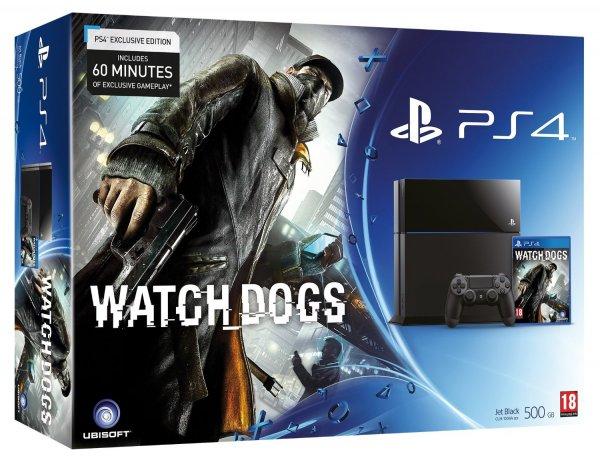 PS4 Konsole PlayStation 4 inkl. Watch Dogs @ Amazo.fr im Bundle