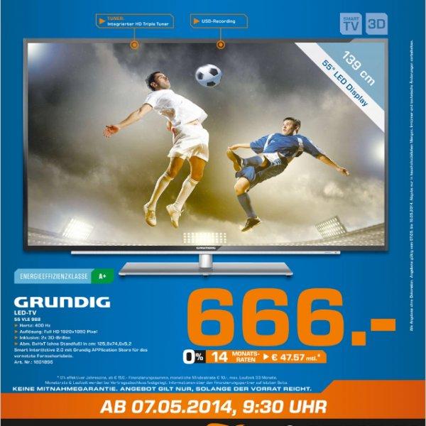 Saturn Leverkusen Grundig 55VLE988 666€