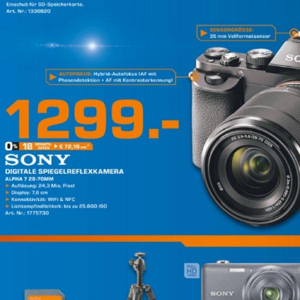 Sony Alpha 7 Kit 28-70mm 1299€