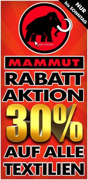 MAMMUT -30% Rabatt-Aktion auf alle Textilien