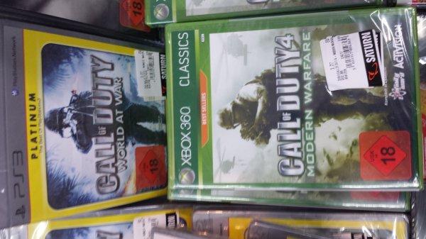 [Saturn Darmstadt] Call of Duty World at War (PS3) + Modern Warfare (PS3 + XBox) für je 7,77€