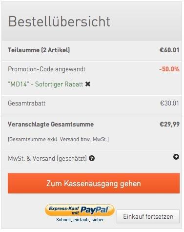 BOOQ Coupon MD14 für 50% Rabatt auf bereits reduzierte Artikel zum Muttertag
