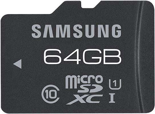 Samsung microSDXC Pro 64GB Class 10 Speicherkarte 70MB Lesen für 31,79€ + 4,49€ VSK @ Redcoon