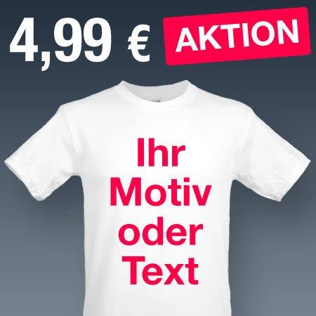 T-Shirt bedruckt mit eigenem Design/Bild für 9,89€ inkl. Versand !! @printplanet.de