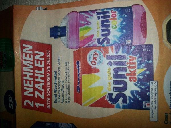 -real- 2 x Sunil Pulver oder Flüssig für 2,75 Euro