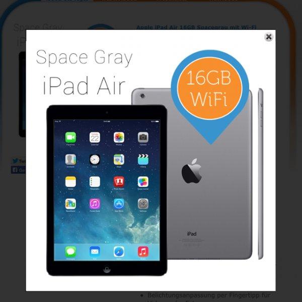 [369,95€]iPad Air Spacegrau 16 GB
