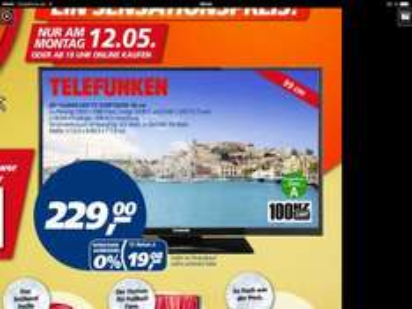 [Real bundesweit] Telefunken D39F182N2 FullHD LED TV 39 Zoll 99cm nur 12.05.2014