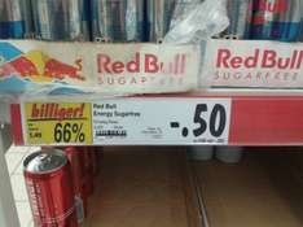 Red Bull sugarfree 50 Cent lokal Kaufland Reinholdshain