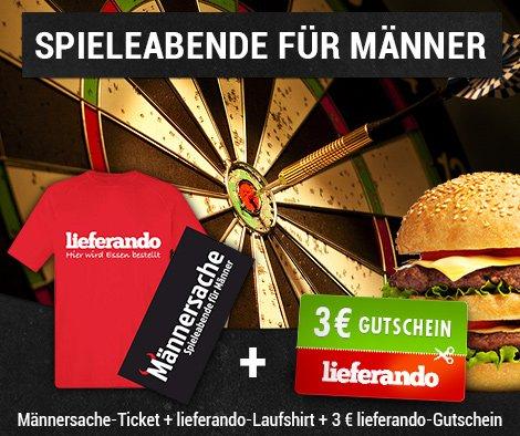 [Offline] Spieleabend für Männer + Funktionsshirt + 3€ Lieferando.de Gutschein