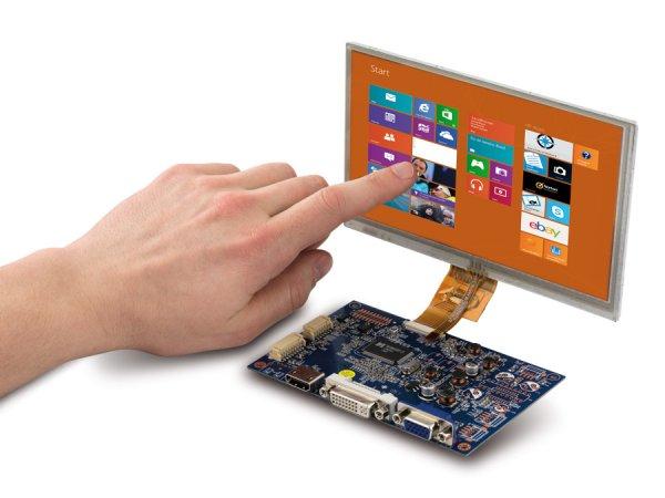"7"" Display-Set mit Touchscreen LS-7T, HDMI/DVI/VGA/CVBS für 49,95 € + VSK z.B. für Rasperry PI oder Banana Pi"