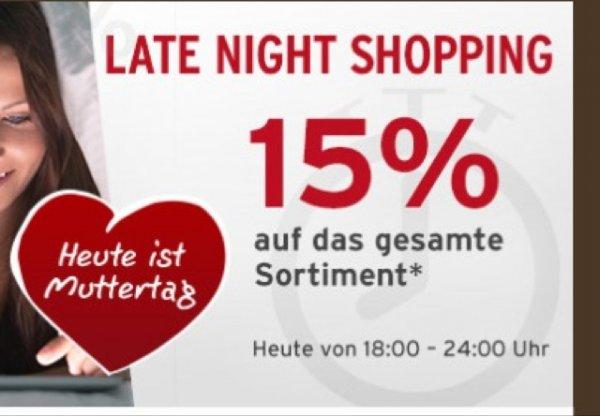Tchibo Late Night Shopping - 15% auf alles