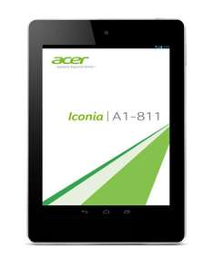 Acer Iconia A1-811 (7,9 Zoll IPS) Tablet-PC (Quadcore 1,2GHz, 1GB RAM, 16GB SSD, 3G, Android OS) für 179€ bei Amazon.de