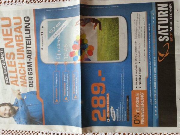 Samsung Galaxy S4 bei Saturn Bremen City (nur lokal) für 289,00 Euro