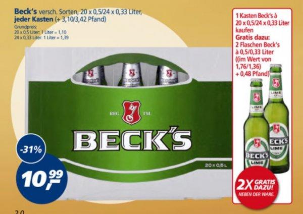 Beck's 22x 0,5l-Flasche für 10,99€ (1l = 1€) @ Real