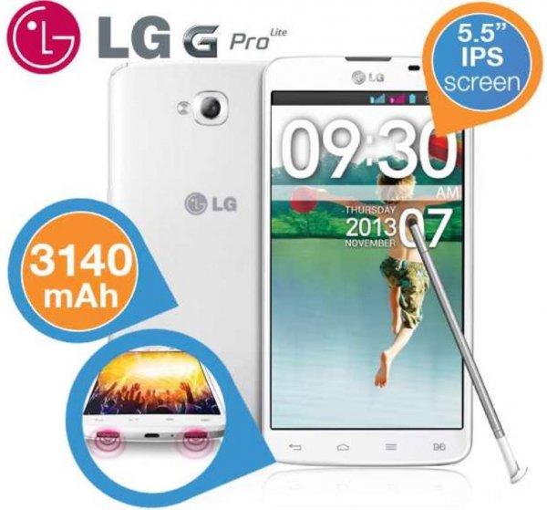 LG G Pro Lite – Smartphone 5,5 Zoll IPS (3140 mAh Akku) in Weiß für 174€ incl.Versand bei iBOOD