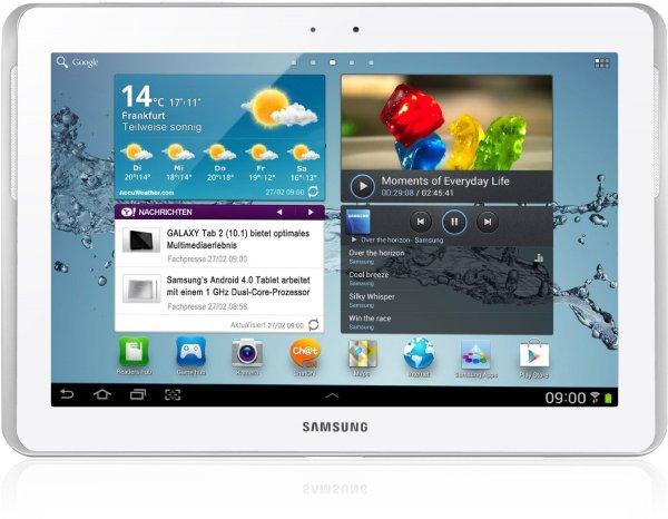 [Amazon WHD] Samsung Galaxy Tab 2 P5110 WIFI Tablet (25,7 cm (10.1 Zoll) Display, 1GHz Prozessor, 1GB RAM, 16 GB Speicher, 3,2 Megapixel Kamera, Android) weiß