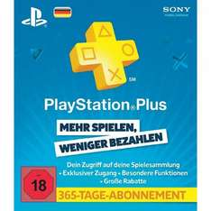 Sony PlayStation Plus 1 Jahr für 42€ @Conrad
