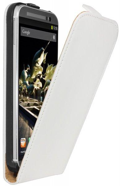 Mumbi Flip Case HTC One M8 Tasche weiss und Mumbi Schutzhülle LG L90 Hülle transparent weiss für je 0,49 Euro @Amazon.de (schnell sein)