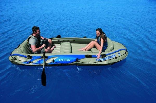 Intex Boot Excursion 5 + Ruder +Pumpe Schlauchboot für 99,90€ frei Haus @ebay