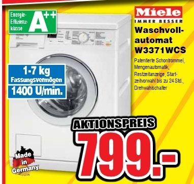 Miele Waschmaschine W3371 WCS bei Bruhn Gerlingen (lokal) für 799€